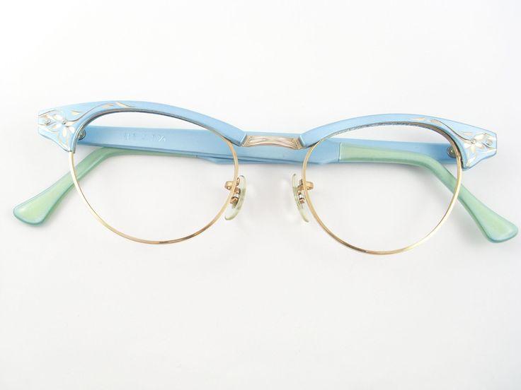 Vintage Cat Eye Glasses Eyeglasses Sunglasses Glasses New 50s Frame.