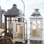 Candle lanterns add a little bit of cottage flair to your interior decor