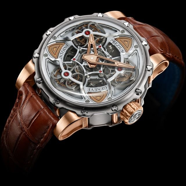 Antoine Preziuso Tourbillon of Tourbillons Titanium and Pink Gold