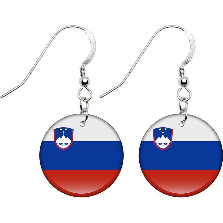Slovenia Flag Earrings