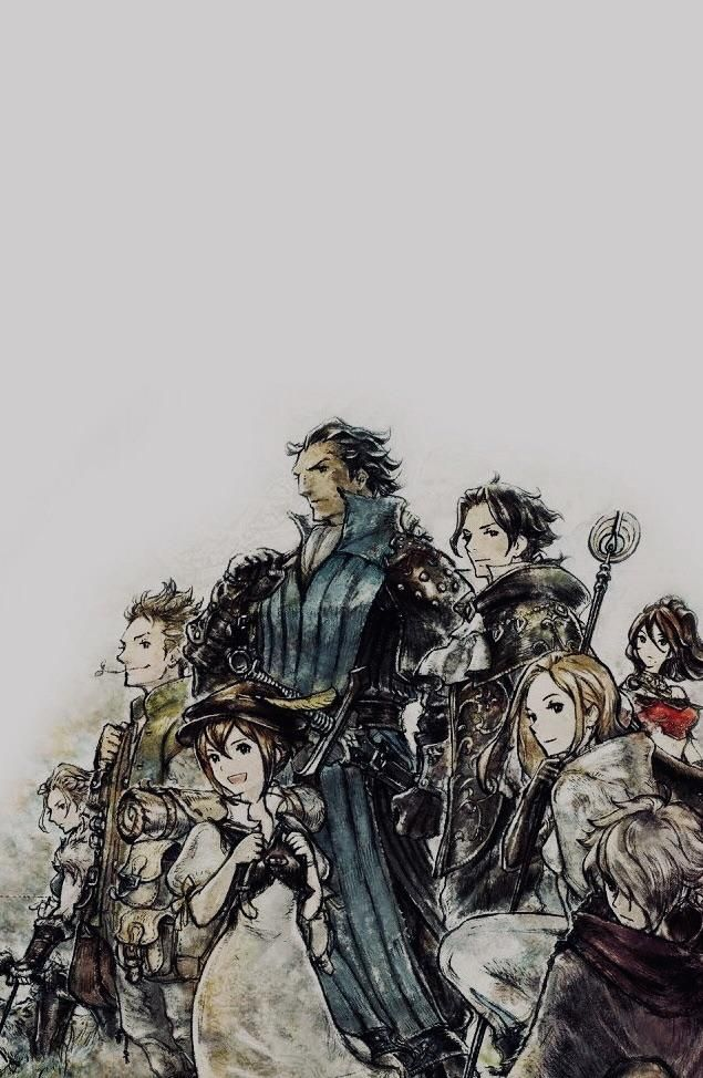 Did A Simple Edit To Make My Favourite Official Art Fit The Dimensions Of My Phone Wallpaper Thought You Octopath Traveler Traveler Wallpaper Phone Wallpaper