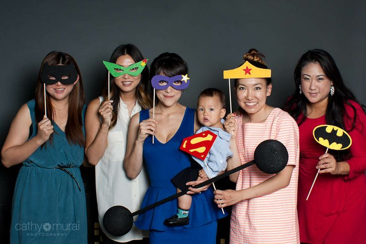 Superhero Photobooth props at photo booth