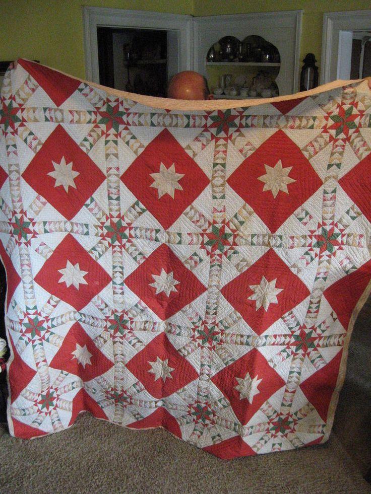 Antique Hand Stitched Quilt, eBay, chadockel