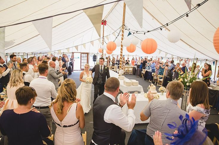 Casual buffet reception with no seating plan and a fantastic atmosphere! Wedding ceremony at UWTSD Lampeter with Kate and Gordon by Whole Picture Weddings – Whole Picture Weddings