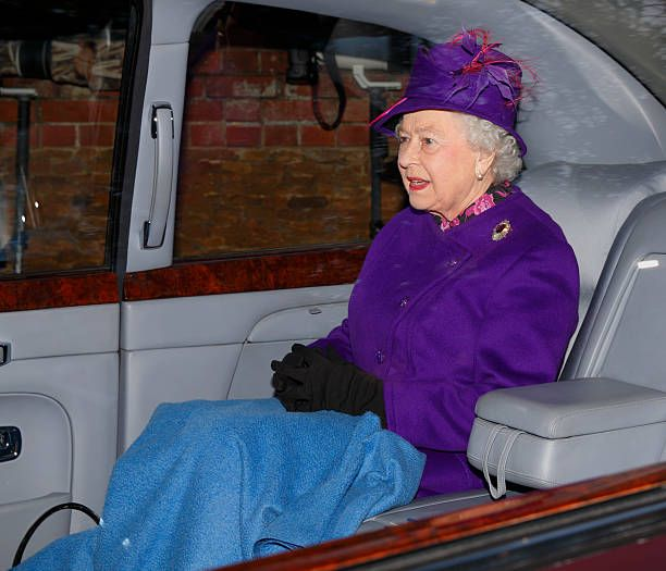Queen Elizabeth II leaves St Mary Magdalene Church Sandringham after attending Sunday service on December 29 2013 near King's Lynn England