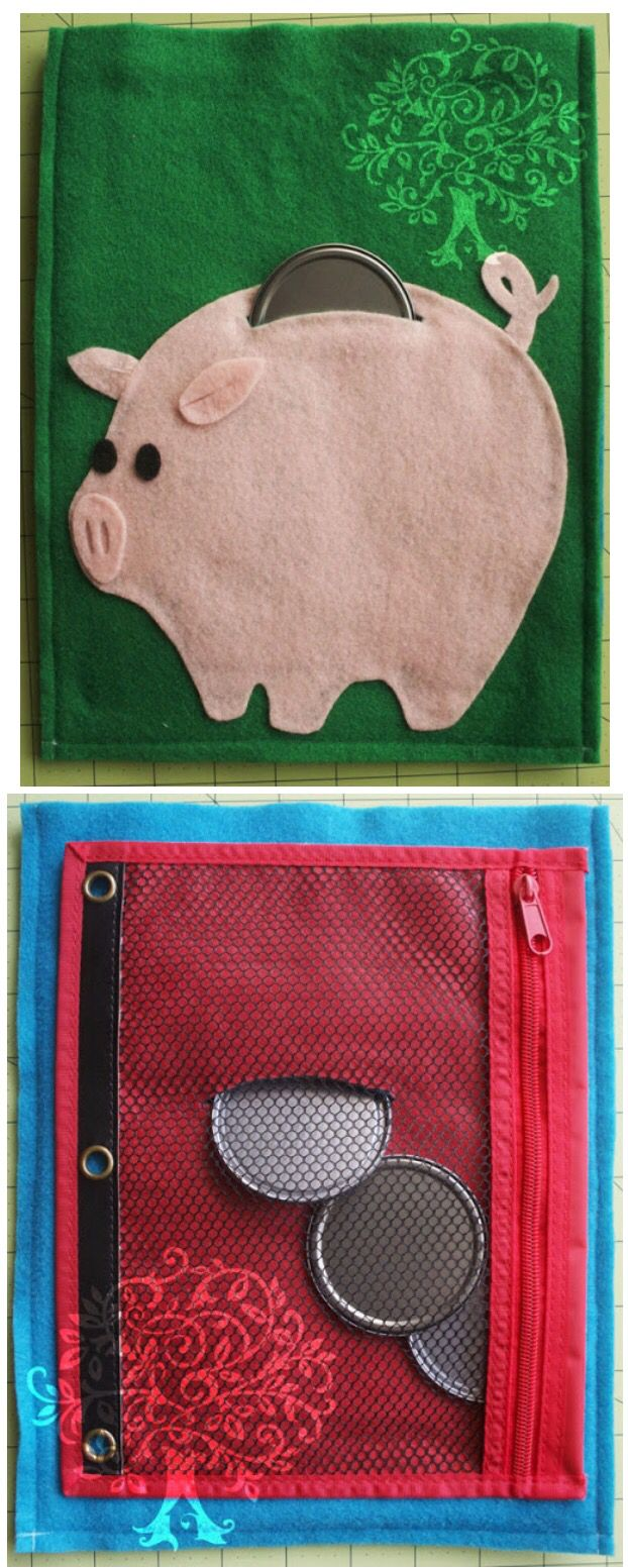 Piggy bank quiet book page                                                                                                                                                     More