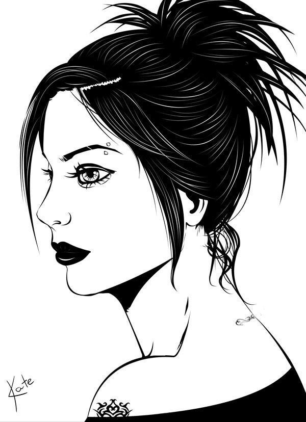 By Katerina Podolskaya drawing, portrait, girl, art, digital art / рисунок…