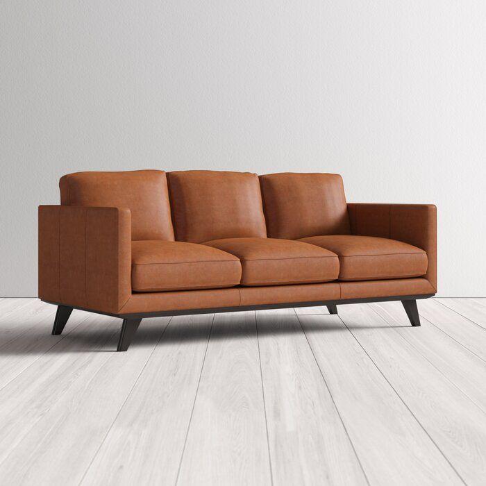Norvin Leather Sofa Reviews Allmodern Leather Sofa Leather Sofa Sale Sofa
