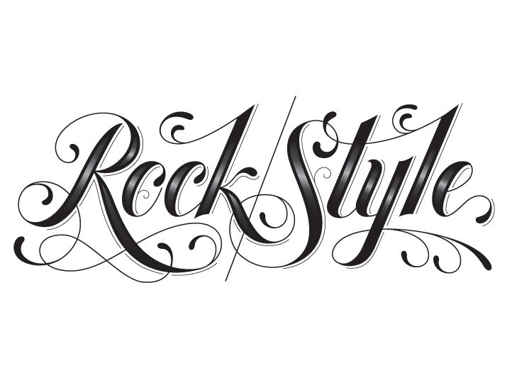 rock style tattoo lettering | jessica hische