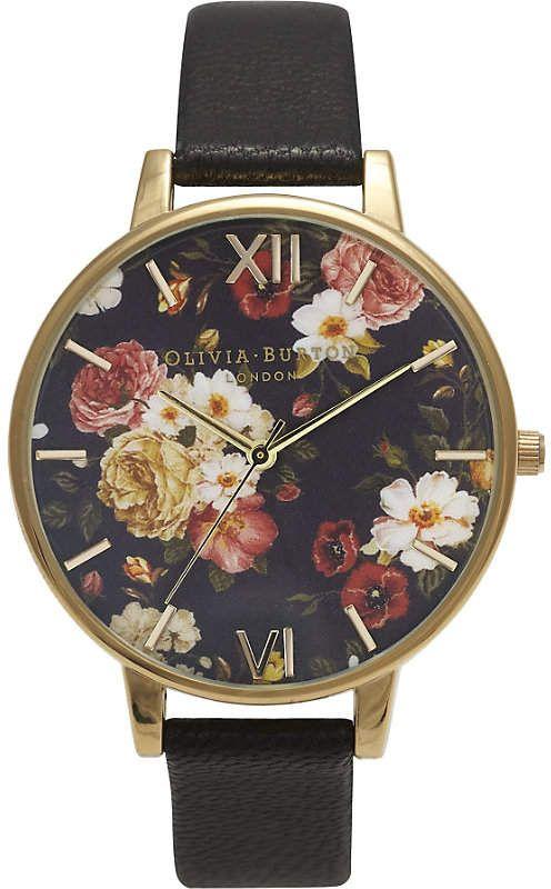 Floral watch / Ladie's watch/ Olivia Burton Winter Garden yellow gold-plated watch / trendy watches / #ad