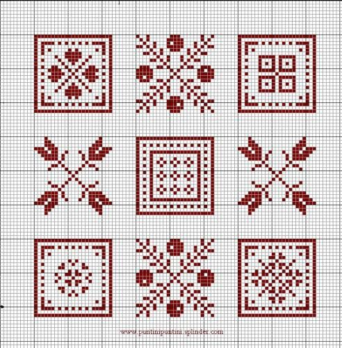 Cross-stitch Mini Biscornu... no color chart available, just use pattern chart as your color guide.. or choose your own colors... Gallery.ru / Фото #23 - монохром - Labadee