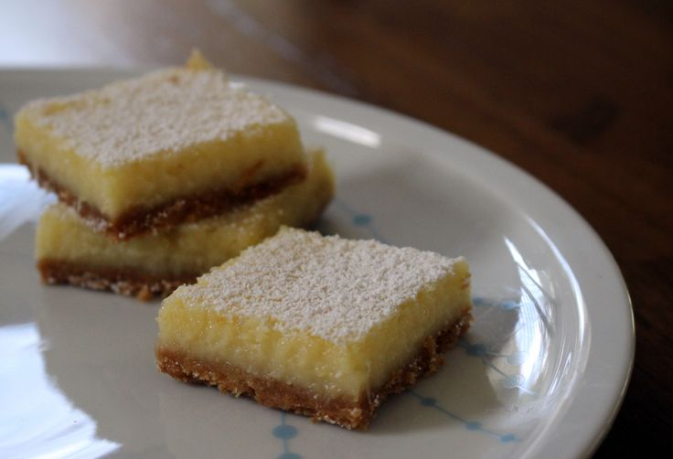 Lemon bar slice thermi