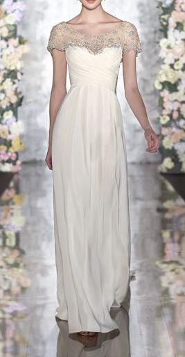 Silk Moroccan sheath lace cap sleeve wedding dress