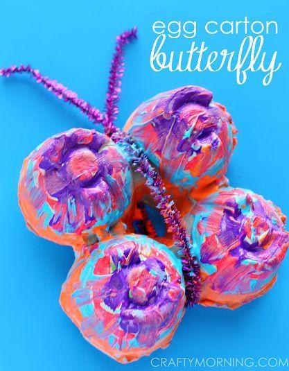 huevo mariposa cartón