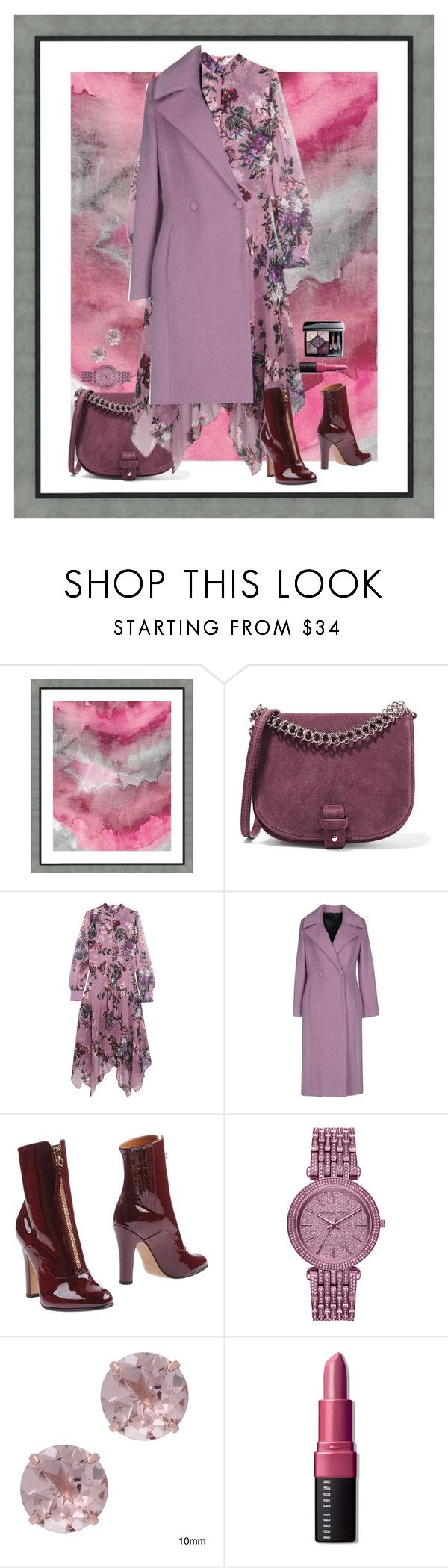 """""""All of they are Purple. Just boots are Red."""" by asmallant ❤ liked on Polyvore featuring Vintage Print Gallery, Little Liffner, Erdem, Carla G., Valentino, Michael Kors, Gioelli, Bobbi Brown Cosmetics and Christian Dior"""