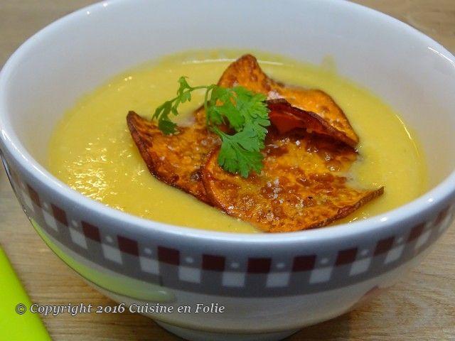 Cuisine en folie: Velouté crémeux poireaux, patate douce et camember...