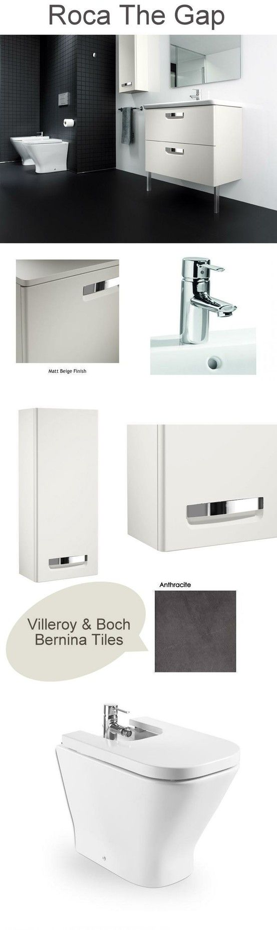 Roca The Gap, in Matte Beige. From UK Bathrooms www.ukbathrooms.com #Beige #Roca #Bathrooms