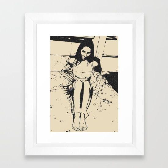 Obey - bondage drawing Framed Art Print