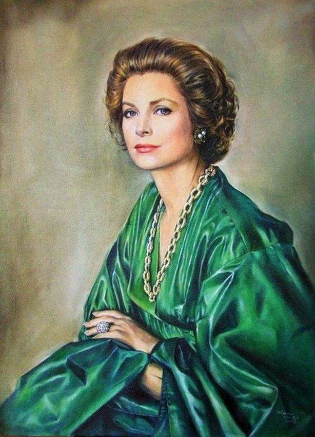 Stéfanie Van Zyl (b.1960)  — HSH Princess Grace of Monaco  (614x850)