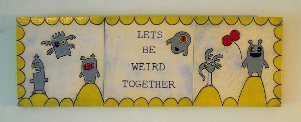 Let's be weird together tile set