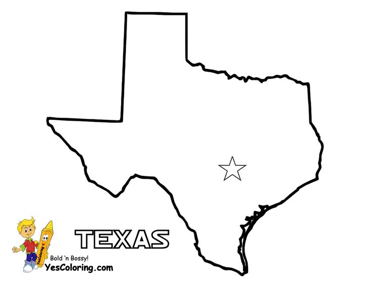 texas printout of map at yescoloring com