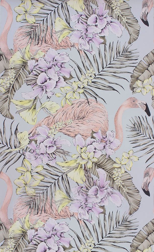 Papier peint flamingo club matthew williamson flamants roses matthew williamson et design - Papier peint flamant rose ...