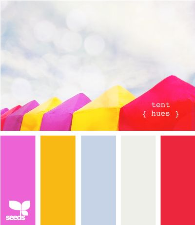 tent hues: Tent Hue, New Houses, Design Seeds, Summer Colour, Colors Palettes, Colors Schemes, Baby Girls Rooms, Bright Colors, Colors Inspiration
