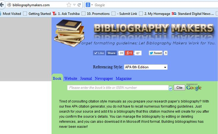 apa format references generator This apa citation tool generates the works cited page entries by using the proper apa format the tool follows the latest style and rules.