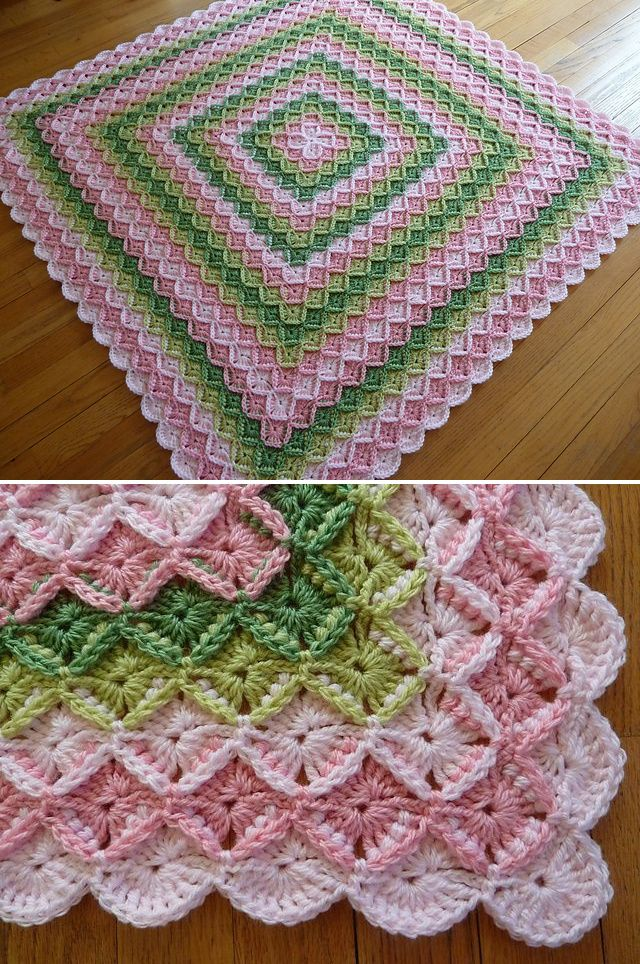 Bavarian Crochet Baby Blanket ~ by irene522 @ Ravelry ~*no pattern but page includes link to how-to video on basic stitch