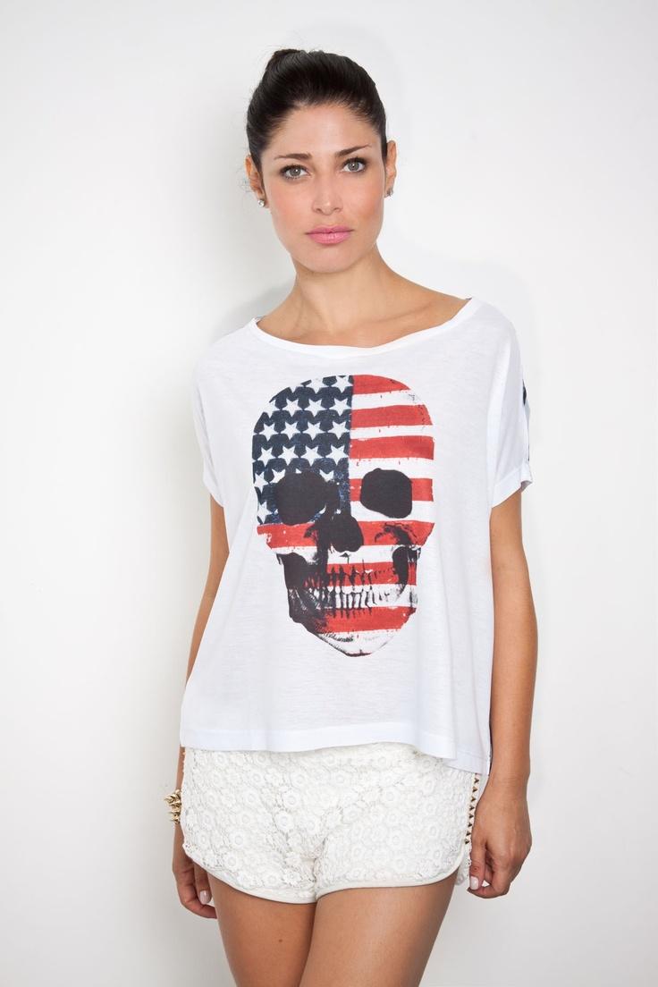 Blusa Caveira americana R$ 167,99