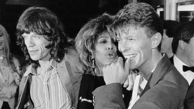 Mick Jagger, Tina Turner and David Bowie were quite the trio at the Prince's Trust 10th Anniversary Rock Gala at Wembley Arena, London on June 23, 1986. Bowie died on Sunday, Jan. 10, 2016 after a long battle with cancer. He is survived by his wife of 23 years, model Iman, their daughter Alexandria Zahra Jones, and his son, director Duncan Jones, from a previous marriage.