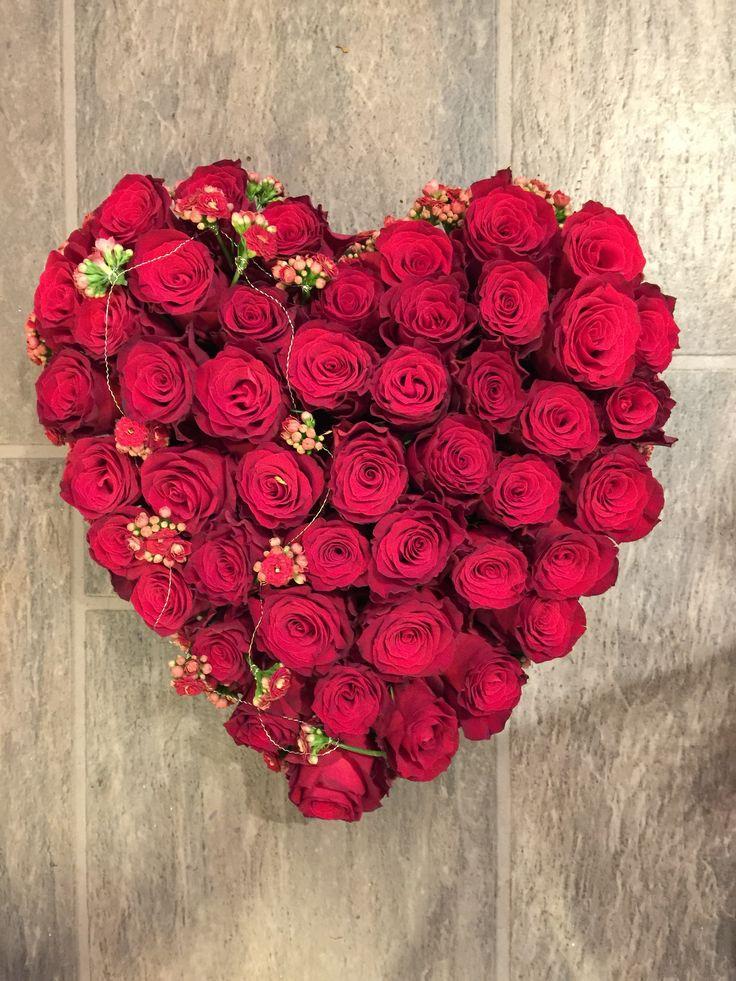 Rødt hjerte til begravelse