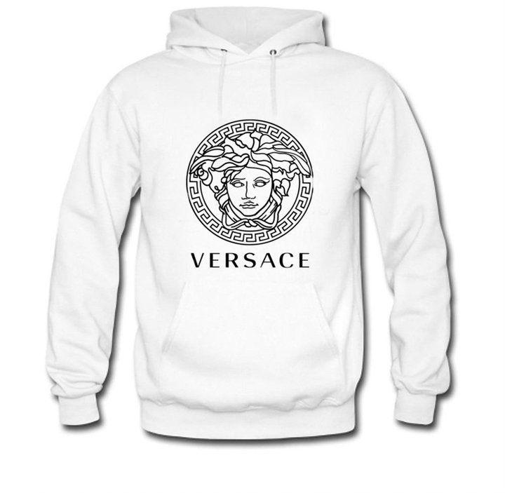 Wadan Heta Mens Hoodies Versace White Size XXL