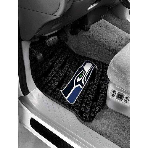 29 X 175 NFL Seahawks Mat Set Car Floor Football Themed Sports Patterned Truck Non Slip Gift Fan Team Logo Fan Merchandise Athletic Spirit Black White Green Grey Blue Pvc