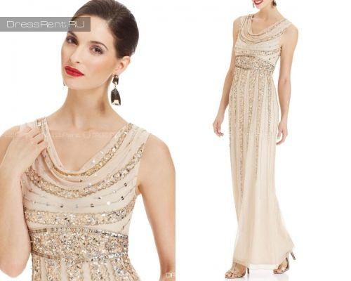 золотое платье на бал в прокат