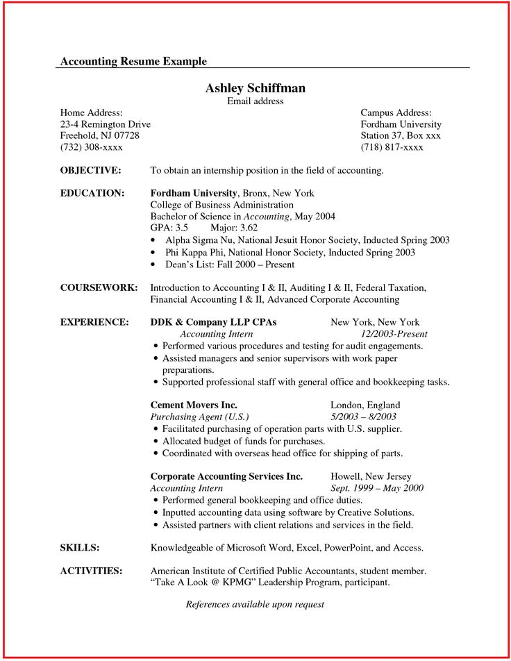Accountant Resume Sample Canada http//www.jobresume