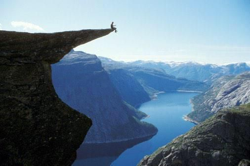 If hiking is your type of meditation, this hike is definitely for you! #Trolltunga in #Norway is the definition of #relaxation!
