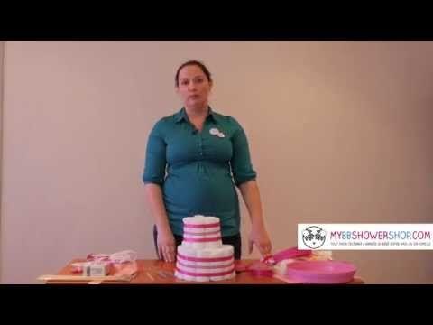 [Tuto] Comment réaliser un gâteau de couches cadeau naissance organisation baby shower DIY - YouTube