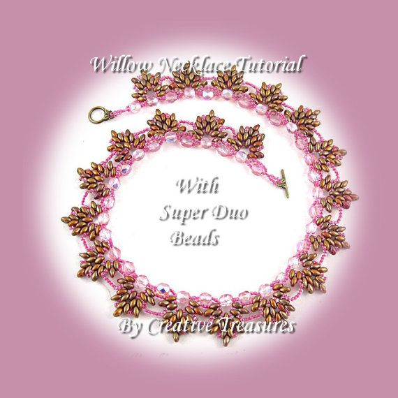 65 best bangles images on pinterest beads beaded bracelets and pdf tutorial willow necklace with super duo beads by ctbeading 400 fandeluxe Gallery