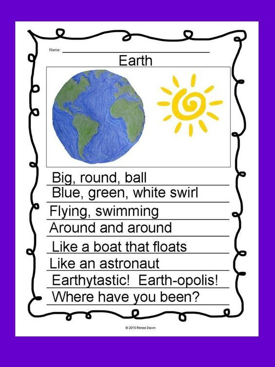 Poetry Writing: Kids create free verse poems that are breath-taking display pieces. Creative, divergent thinking pops off the page. Complete writer's workshop lessons—16 in all—will build poetry step-by-step. Lists, charts and examples support each lesson. For K - 5; Earth Hand-Drawn.