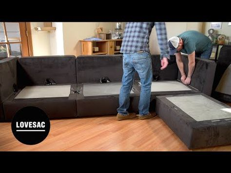 Lovesac Modular Furniture!! Assembly Tips, Tricks & REVIEW! - YouTube