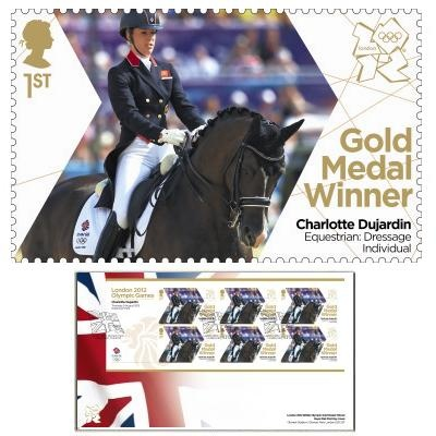 Large image of the Team GB Gold Medal Winner First Day Cover - Charlotte Dujardin