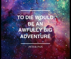 'But the biggest adventure is life' This quote reminds me of so many childhood memory quotes. But so far this has always been a favorite ever since I first watched the Disney Film.