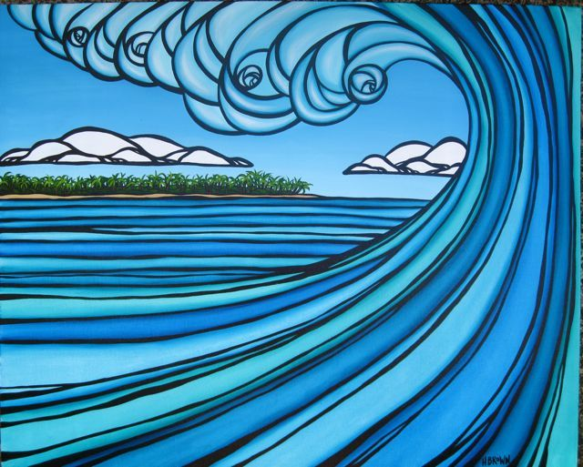 Interview: Heather Brown's surf art