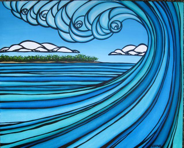 Interview: Heather Brown's surf art
