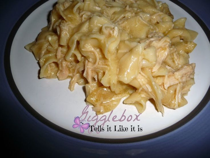 Crockpot Creamy Chicken and Noodles - Gigglebox Tells it Like it is - www.wvugigglebox.blogspot.com