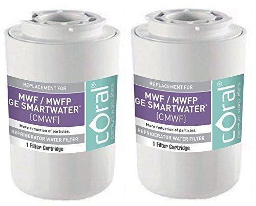 GE MWF / MWFP GE SMARTWATER Compatible Coral Premium Refrigerator Water Filter (2)