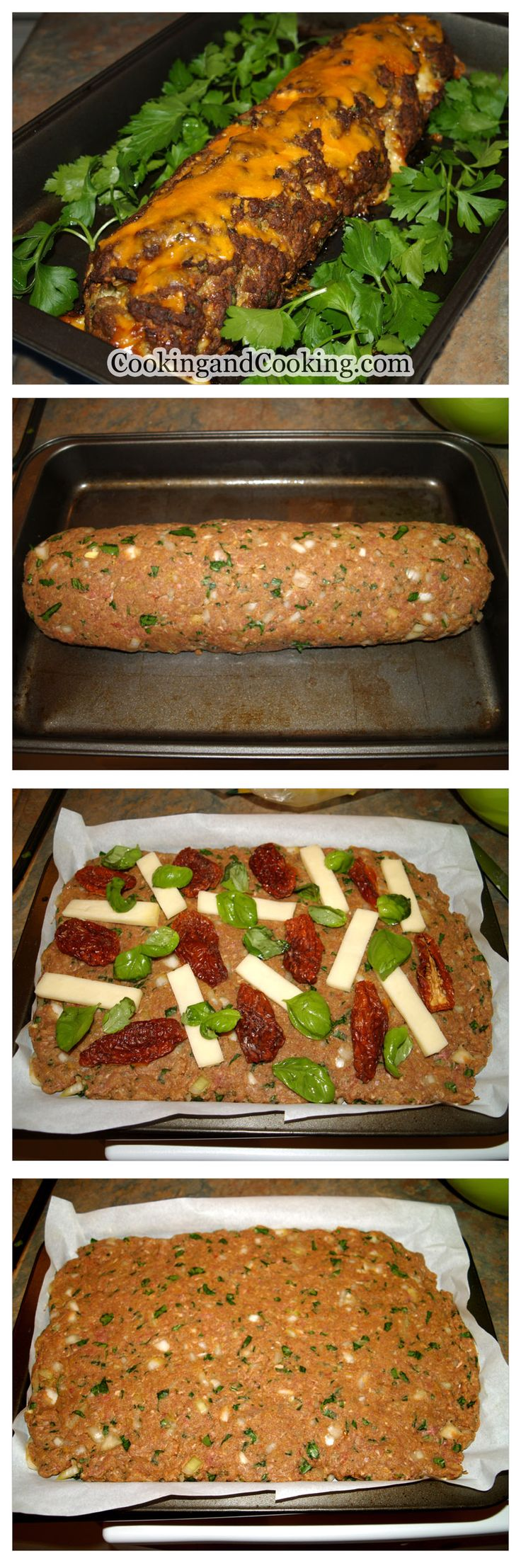 his easy-to-follow recipe for flavorful cheesy stuffed meatloaf is made with a combination of lean ground beef, fresh parsley, fresh basil, bread-crumbs, Worcestershire sauce, egg, Mozzarella and spices. Serve this stuffed meatloaf with mashed potato or steamed vegetables and any kind of tomato sauce you like.