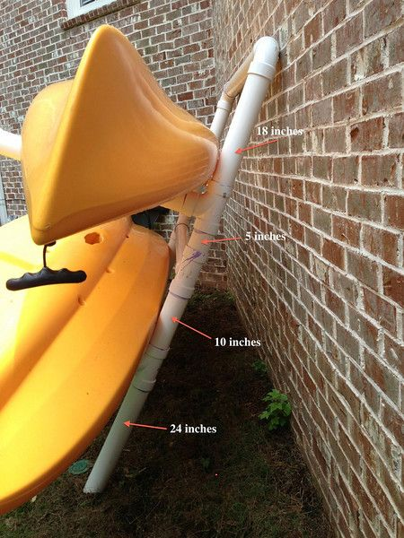Hobie Cat Forums • View topic - Quick & Easy PVC Outdoor Dual Kayak Storage Rack