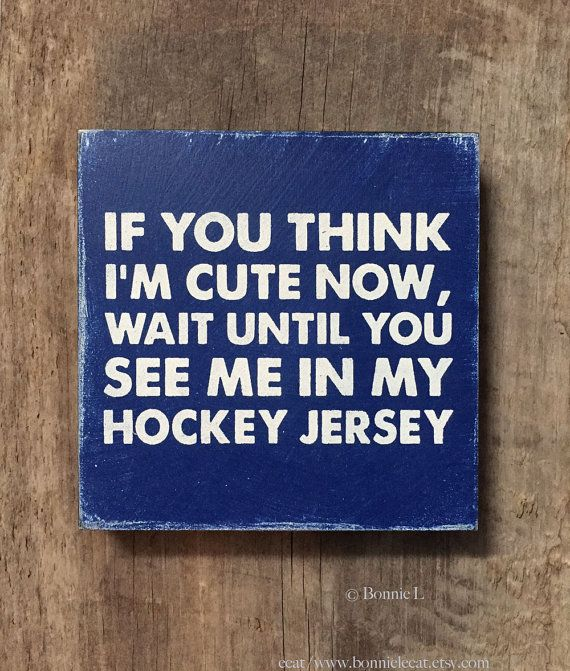 Vintage Hockey Sign Sports Team Wall Art Hockey Boy by bonnielecat